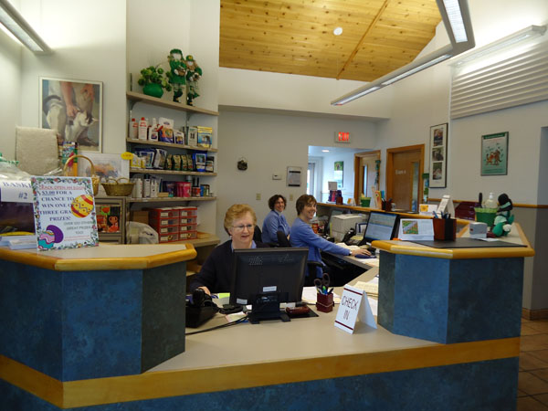Georgetown Animal Clinic, PC - Veterinarian serving Williamsville, Amherst and Buffalo NY areas: Our Welcoming Crew and Spacious Waiting area